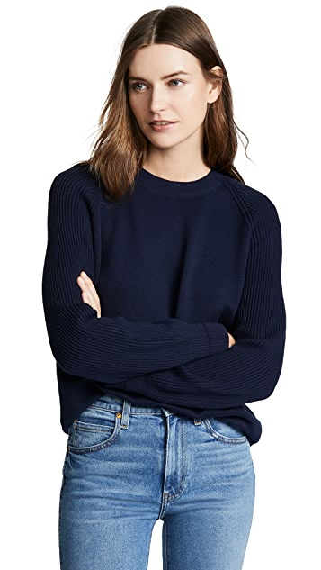 Vince Ribbed Raglan Sleeve Pullover