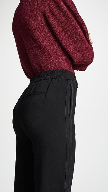 Vince Satin Stripe Pull On Pants