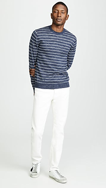 Vince Striped Crew Neck Pullover
