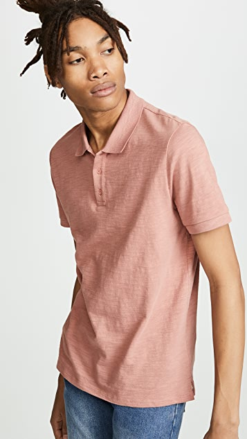Vince Garment Dye Polo Shirt