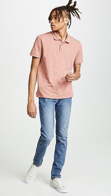 Vince Garment Dye Polo Shirt