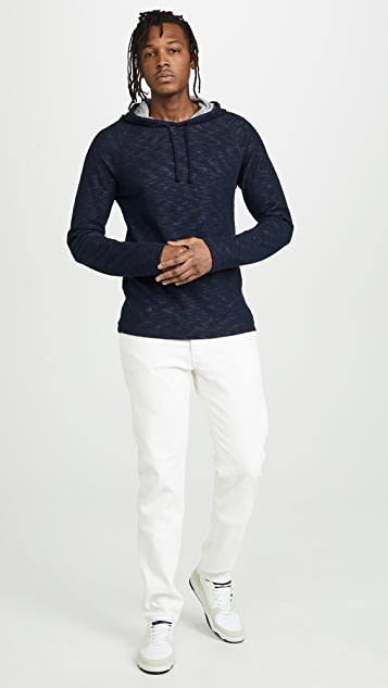 Vince Double Knit Pullover Hoodie