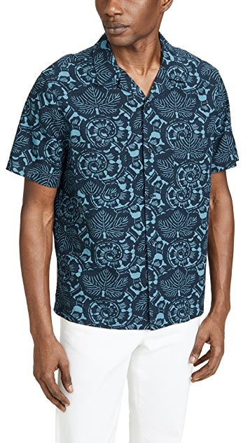 Vince Lotus Leaf Cabana Shirt