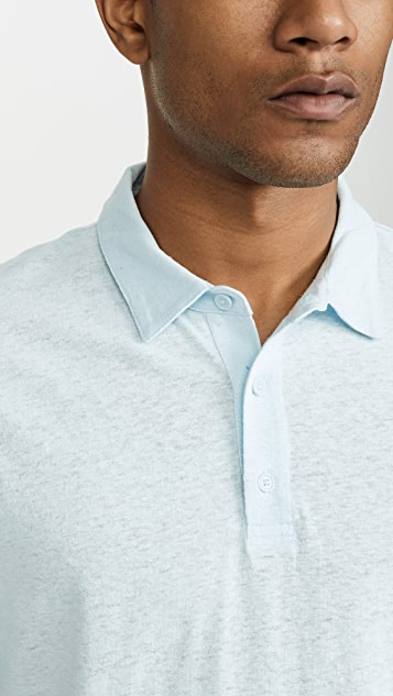Vince Linen Cotton Polo