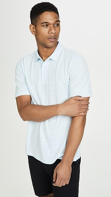 Vince Linen Cotton Polo