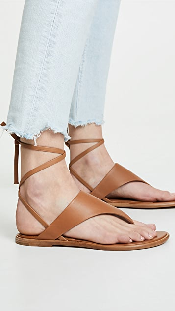 Vince Eastwood Thong Wrap Sandals