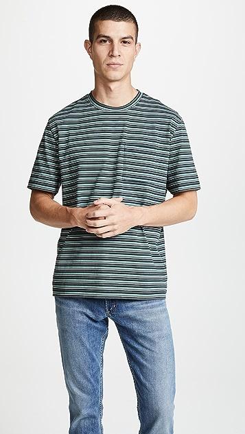 Vince Multi Stripe Boxy Tee
