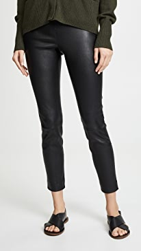 Leather Crop Leggings