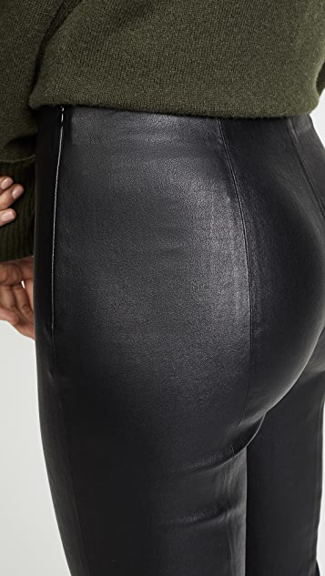 Vince Leather Crop Leggings