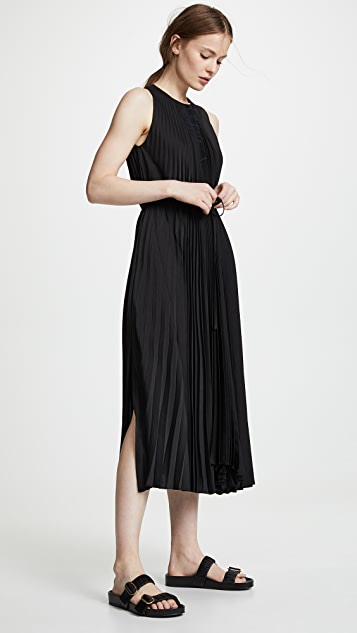 Vince Smocked Dress - Black