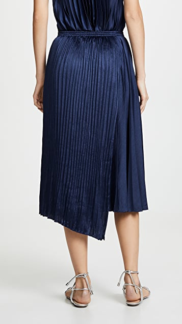 Vince Mixed Pleat Skirt