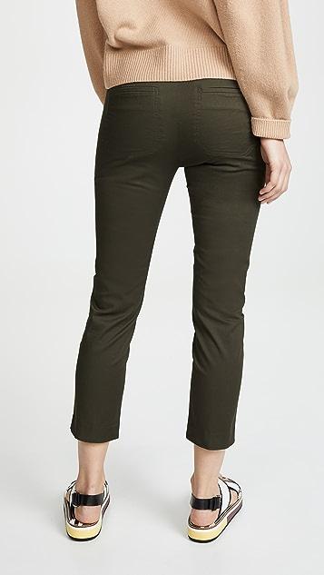 Vince 零钱袋斜纹棉布裤子