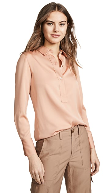 Vince Slim Fitted Popover Shirt