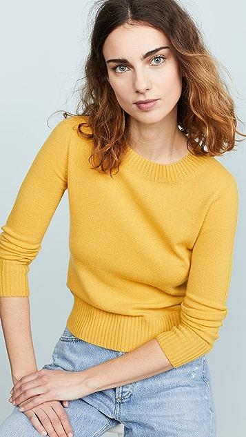 Vince Укороченный кашемировый пуловер