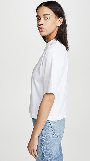 Vince Укороченная футболка с широкими рукавами