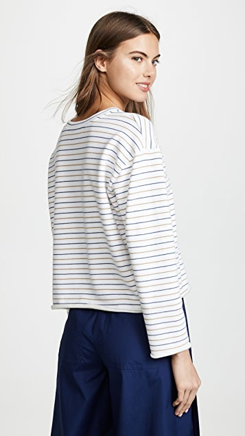 Vince Triple Stripe Sweatshirt