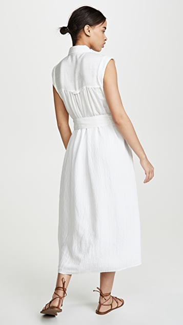 Vince Rolled Sleeve Shirt Dress
