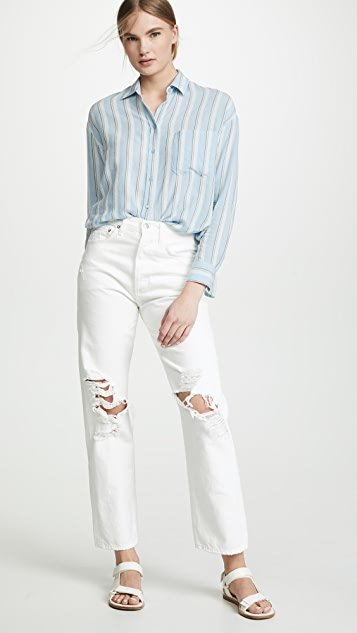 Vince Textured Stripe Boxy Top