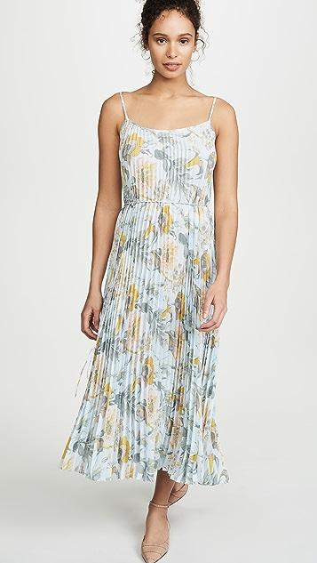 Vince Marine Garden Pleated Cami Dress