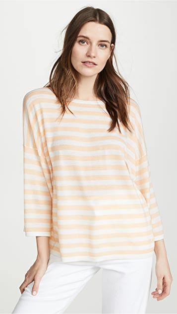 Vince Striped Boxy Tee