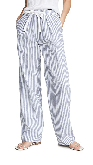 Vince Wide Leg Stripe Pants