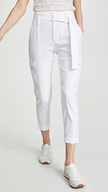 Vince Льняные брюки с поясом