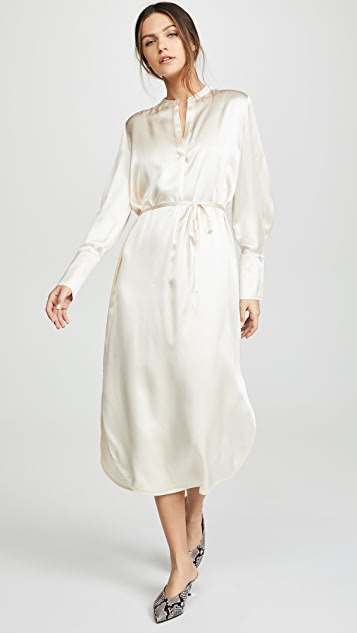 Vince Band Collar Shirtdress