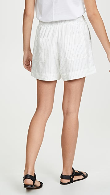Vince Pencil Stripe Shorts