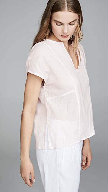 Vince Seamed Popover Blouse