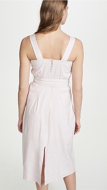 Vince Belted Wide Strap Dress