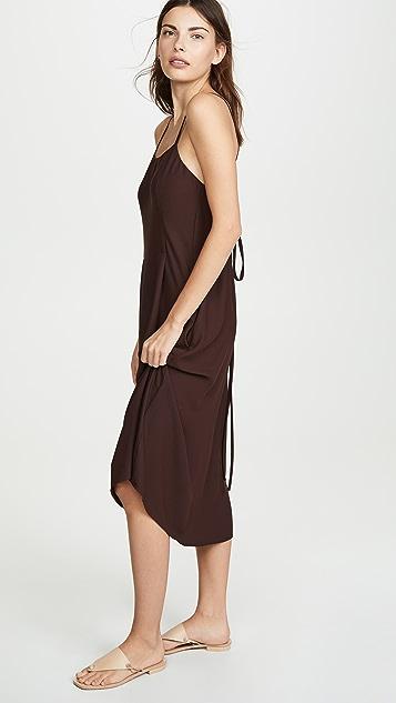 Vince Платье без рукавов с полосками ткани