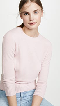 Shrunken 3/4 Sleeve Cashmere Sweater
