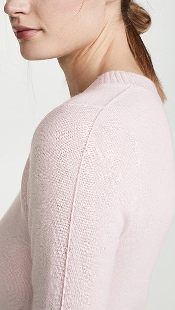 Vince Shrunken 3/4 Sleeve Cashmere Sweater