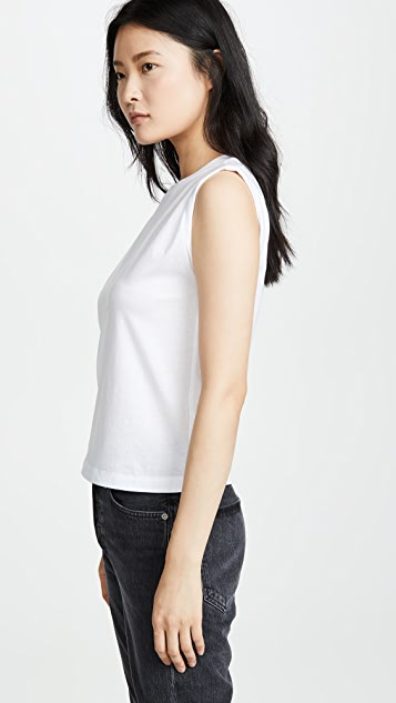 Vince Roll Sleeve Tank