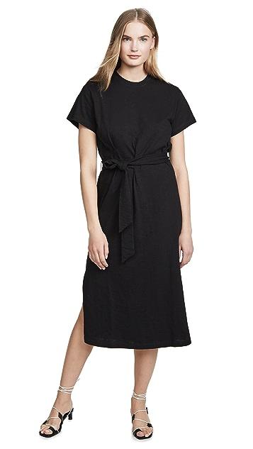 Vince Платье-халат с короткими рукавами