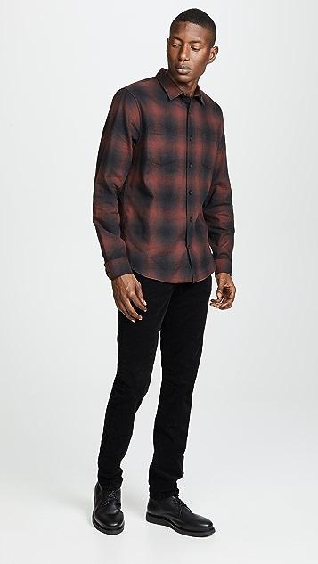 Vince Shadow Plaid Long Sleeve Shirt