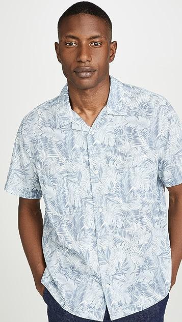Vince California Print Cabana Shirt