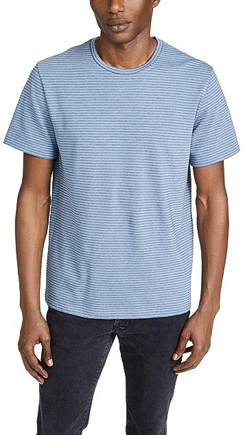Vince Short Sleeve Shadow Stripe T-Shirt