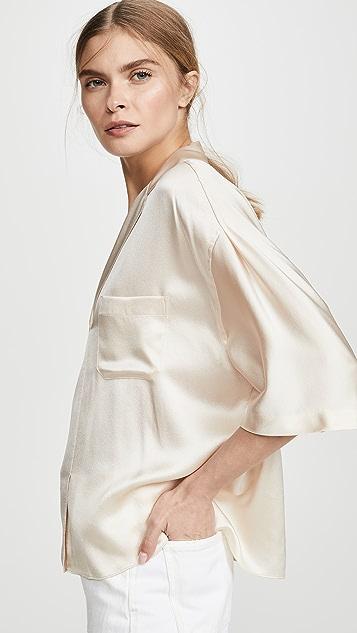 Vince Атласная пижамная рубашка