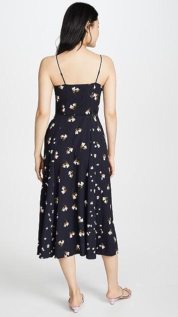 Vince 混合木槿连衣裙