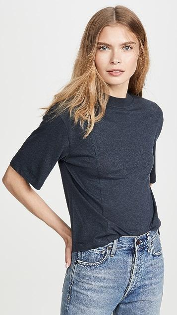 Vince 针织装饰圆领 T 恤