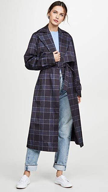 Vince Plaid Trench