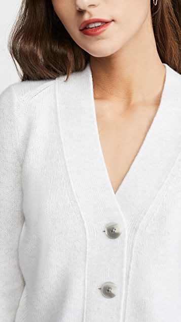 Vince Shrunken Button Cashmere Cardigan