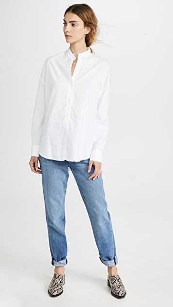 Vince Raw Edge Oversized Button Down