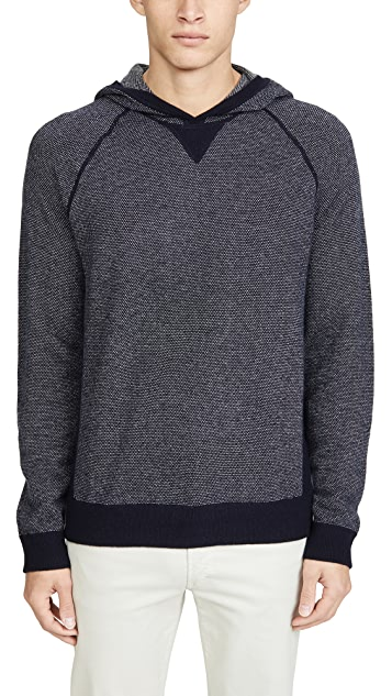 Vince Long Sleeve Birdseye Pullover Cashmere Hoodie