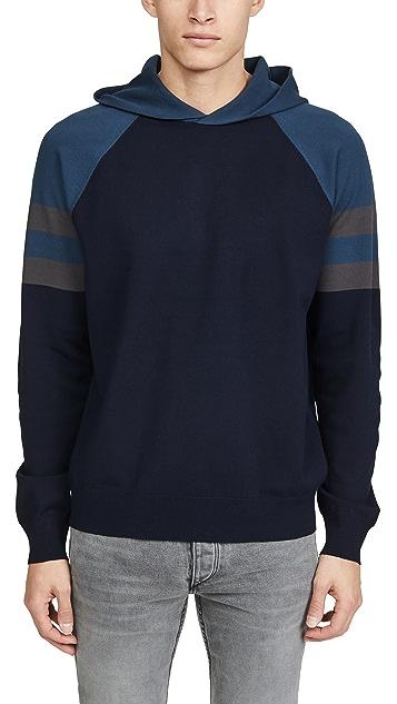 Vince Long Sleeve Colorblock Pullover Hoodie