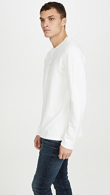 Vince Long Sleeve Shawl Collar Henley