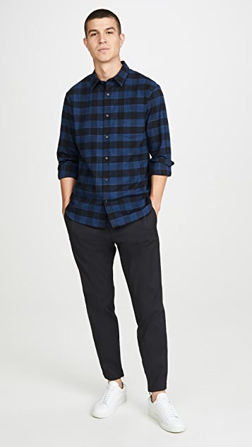 Vince Buffalo Check Long Sleeve Flannel Shirt
