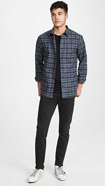 Vince Shadow Plaid Long Sleeve Flannel Shirt