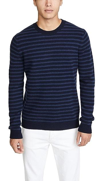 Vince Shadow Stripe Crewneck Sweater